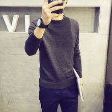 Male personality trend of Korean T-shirt plus sweater cashmere sweater knit thickened men slim type all-match in autumn and winter