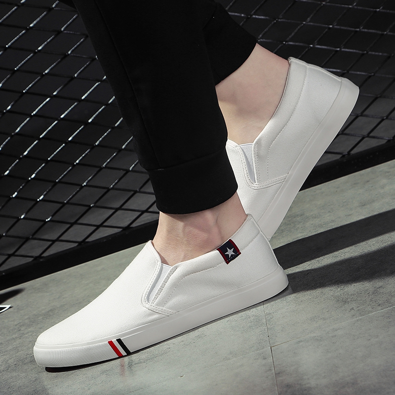 Men's canvas shoes shoes summer white sports shoes casual shoes foot air Korean students summer shoes