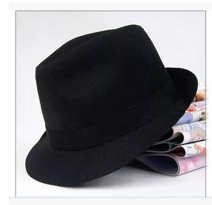 成人儿童通用款韩版潮黑色小礼帽男女爵士帽舞台舞蹈表演出帽批发