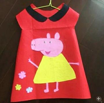 环保服装儿童时装秀手工制作无纺布塑料袋成人亲子装公主裙表演服