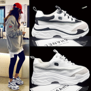 ins super fire shoes winter thick bottom sports shoes Harajuku Street beat father shoes Korean version ulzzang white shoes