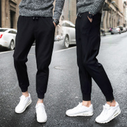 Trainer Haren loose pants trousers with Velvet Pants Size in autumn and winter guard pants Korean men's casual pants tide