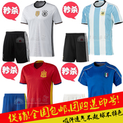 The 2016 European Cup soccer jerseys short sleeved Germany Italy Argentina Portugal training wear uniforms