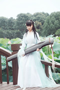Fairy costume hanfu white dress costumes dress show women's elegant Ru hand-woven cloth wide sleeve skirt cultivate one's morality