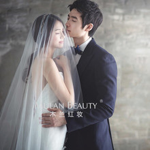 Europe and the United States simple yarn bride Korean wedding wedding veil long yarn trailing photography brigade soft yarn