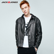 JACK&JONES JackJones MENS polo handsome slim leather jacket jacket locomotive PU