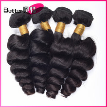 8A unprocessed virgin Peruvian loose wave human hair