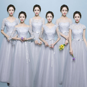 Bridesmaid Dresses long 2017 new Korean fashion large size thin sisters dress female party dress autumn