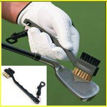 Special offer golf club cleaner cleaning brush tool double wire brush brush hardcore GOLF shoes