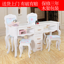New nail table and chair suit combination single double three person nail table glass economic nail shop nail table
