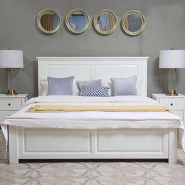 美式实木床北欧田园风格 1.2米1.8米单人床 双人床美式储物床婚床