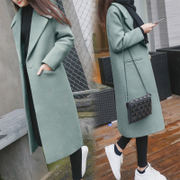 The &middot in the game; wool coat female 9a11c Korean loose thin long paragraph student wool woolen coat