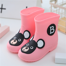 Children boots boy slip 2017 new four seasons general tube baby boots Princess lovely girls water shoes