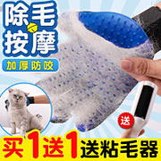 The cat cat cat a bath brush comb line gloves to prevent biting hair floating hair comb comb hair dog cat activities artifact