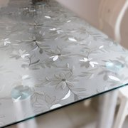 College dorm bedroom PVC tablecloth table coffee table cloth soft glass water, transparent frosted table