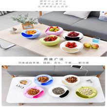 Placing snacks candy compote ornaments lazy dribbling mobile phone card slot nuts fruit plate trash melon seed tray
