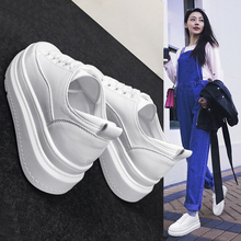 Thick-soled white shoes female students in the spring of 2018 new white shoes base Korean version of the hundred Breathable platform shoes