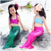 Mermaid children clothing swimsuit Girls Princess Mermaid tail swimsuit girl split beach bikinis