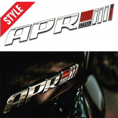 APR程序改装金属标 贴标 尾标 装饰后标 大众 奥迪 斯柯达 西雅特