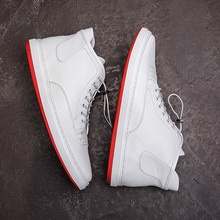 European station winter Korean trend high shoes cl red bottom tide student men's shoes sports shoes Quan Zhilong