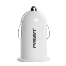 PISEN car charger, cigarette charger, USB charger, car charger for Apple car charger