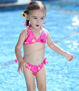 The new children's swimsuit children's cartoon swimsuit Show Dance Dress Bikini Girls swimwear