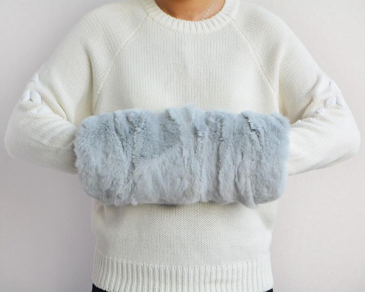 冬季加厚款 獭兔毛暖手宝毛绒皮草手暖保暖手抱枕捂手笼暖袖手筒