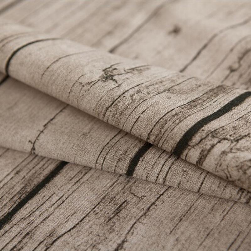 出口日韩棉麻布料zakka麻布桌布布艺亚麻布料树皮木纹拍摄背景布