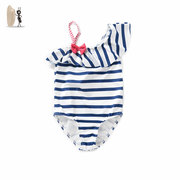 Baby love bug 2017 summer girls swimsuit sago New Stripe swimsuit Strapless Siamese twins swimsuit girl