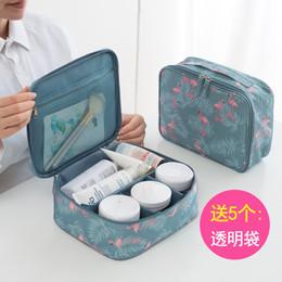 便携化妆包小号大容量洗漱包收纳包韩国简约多功能出差旅行收纳袋