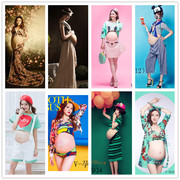 Shoot a pregnant woman clothing dress sexy lace personality lovely mummy portrait pictures studio photography clothing