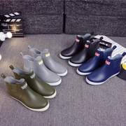 Summer rain boots male low waterproof work shoes boots shoes men boots a short tube anti-skid kitchen water shoes
