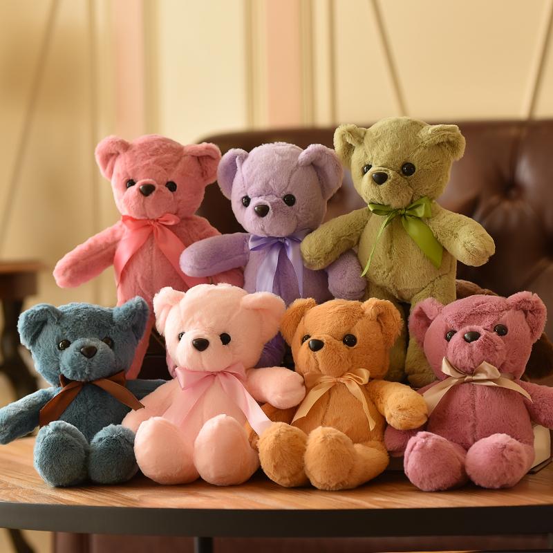 小泰迪熊布娃娃小熊公仔儿童小号抱抱熊婚礼玩偶女生毛绒玩具批发