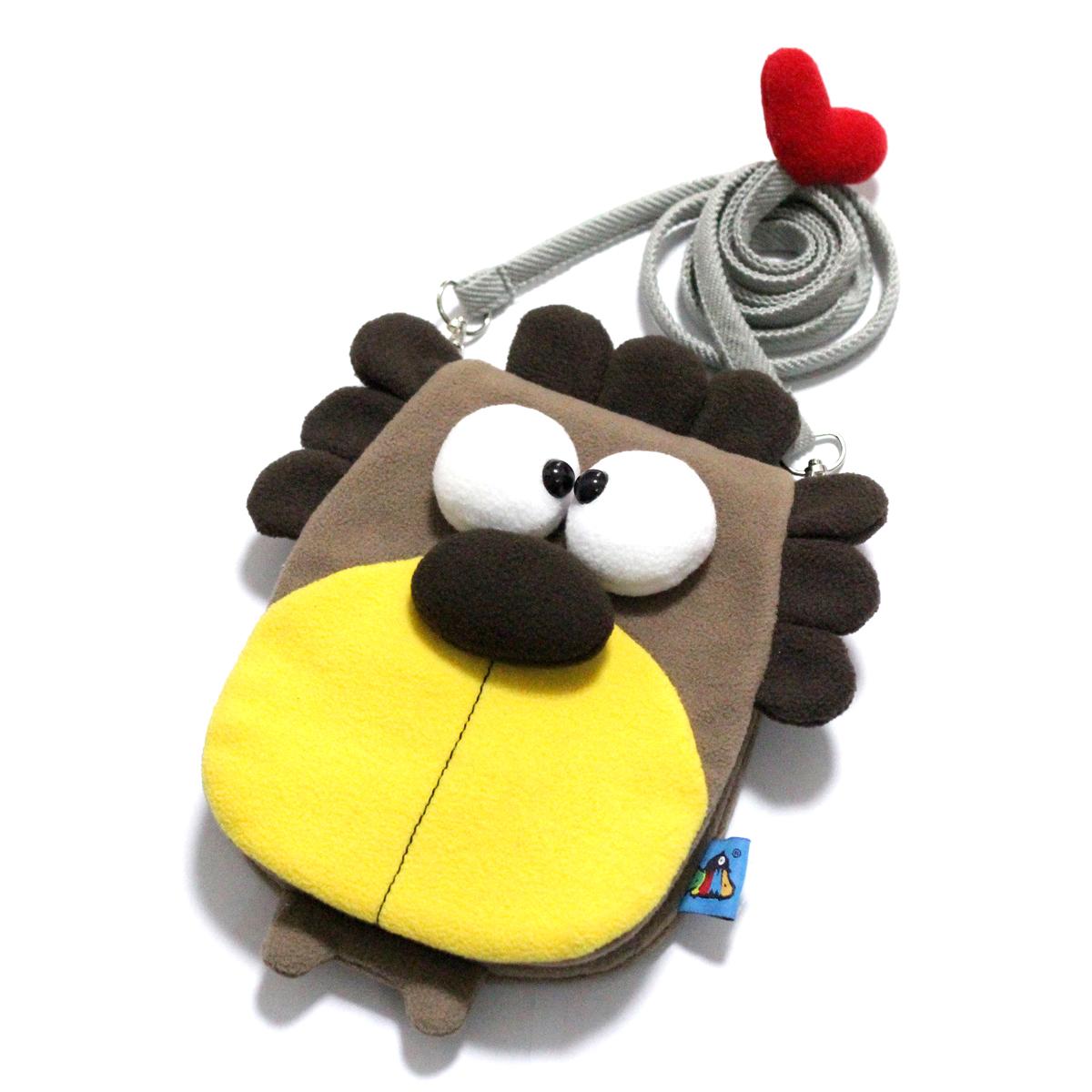 PLUMO三星苹果iPhone6plus斜跨零钱手机包保护毛绒萌可爱卡通狮子