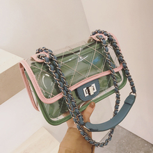 Southwind transparent bag female 2018 new Jelly bag wild ins super fire diagonal chain package small square bag
