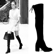 Uncle home 2017 thin high-heeled boots and round knee boots boots boots boots boots with elastic coarse female