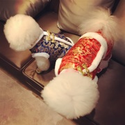 Small dog clothes fall and winter small dogs four feet thickened New Year Tang suit Teddy bear Chihuahua pet New Year