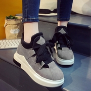 Korean female sports shoes ulzzang Harajuku fall 2017 new thick bottom all-match muffin shoes shoes