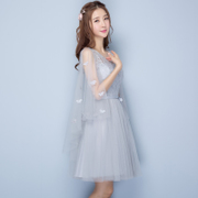 2017 new Korean Short bridesmaid dresses Bridesmaid Dress sisters thin evening dress wedding dress skirt