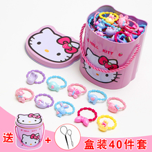 Childrens hair clip hairpin childrens headdress girl hair accessories rubber band hair rope tie hair does not hurt the baby rubber band