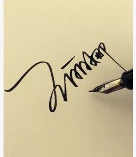 专业艺术签名设计纯手写多款个性商务英文明星一笔签情侣签包满意