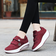 Autumn and winter middle-aged step-walking shoes non-slip soft bottom mother sneakers plus cashmere cotton shoes thick-soled shoes