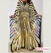 African mom's loose striped dress long dresses