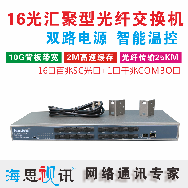 16 Optical 1 Electric Fiber Switch Transceiver SC 16 Optical 2000 photoelectric multiplexing optical fiber rack SW1601GM