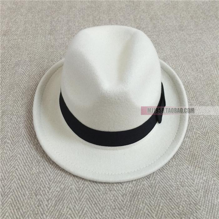 迈克尔杰克逊帽子小孩黑礼帽危险跳舞帽子白色礼帽儿童礼帽