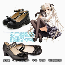 Dome sister cosplay shoes black bow COS edge of air spring loli Lolita wild dome loaded