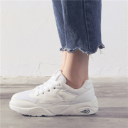 Autumn and winter white cashmere sport shoes, 2017 new Korean students all-match flat casual shoes
