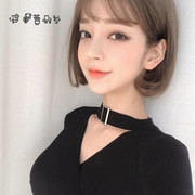 South Korean wig female short curly air bangs BOBO head fluffy short short hair inside the head of the first set of natural