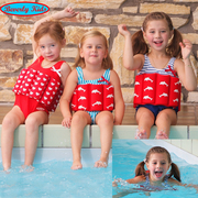 Germany Beverly kids children's Buoyancy Swimsuit one-piece girl swimsuit floating clothes baby hot spring swimsuit