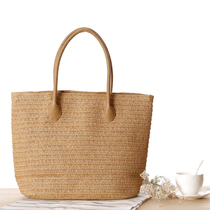 National day of 2017 new straw bags Sen rattan woven womens shoulder bag beach bag